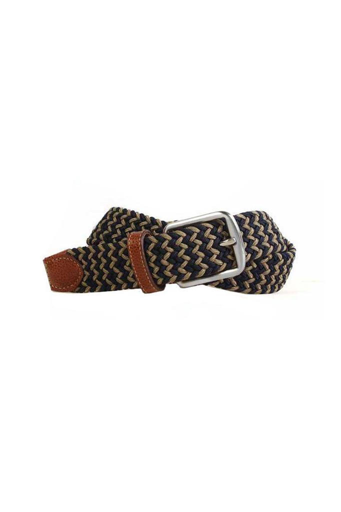 Martin Dingman Newport Navy & British Tan Belt