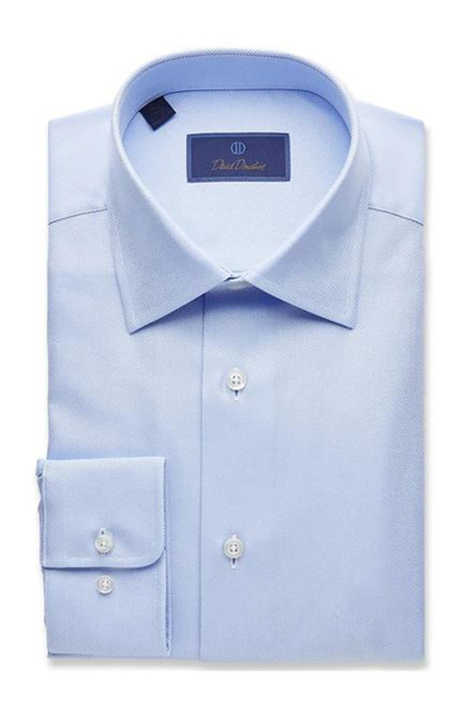 David Donahue Sky Royal Oxford Regular Dress Shirt