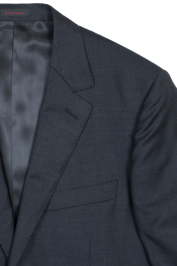 Byron Big & Tall Charcoal Solid Classic Fit Suit