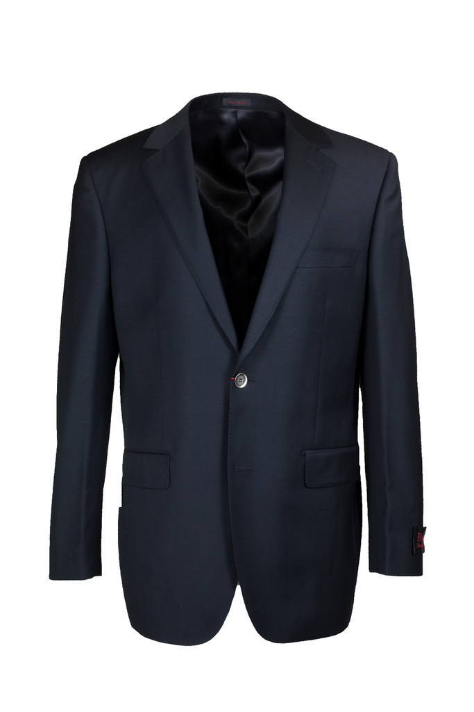 Byron Big & Tall Black Solid Classic Fit Suit