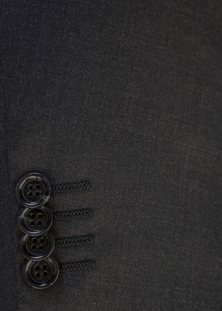 Byron Charcoal Solid Slim Suit