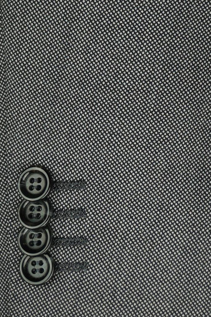 Byron Black & White Nailhead Modern Fit Suit