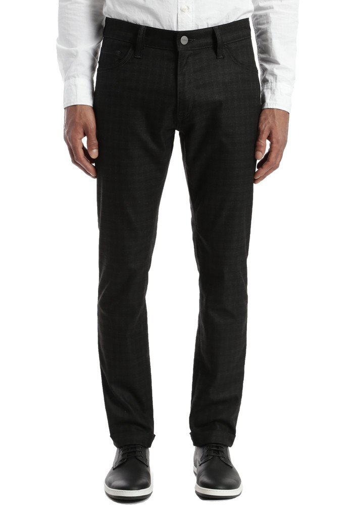 34 Heritage Courage Black Checked Pant