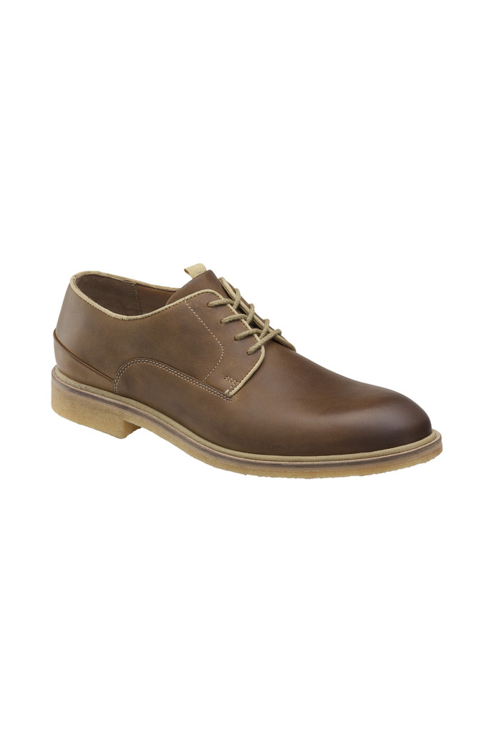 Johnston & Murphy Wagner Light Tan Plain Toe