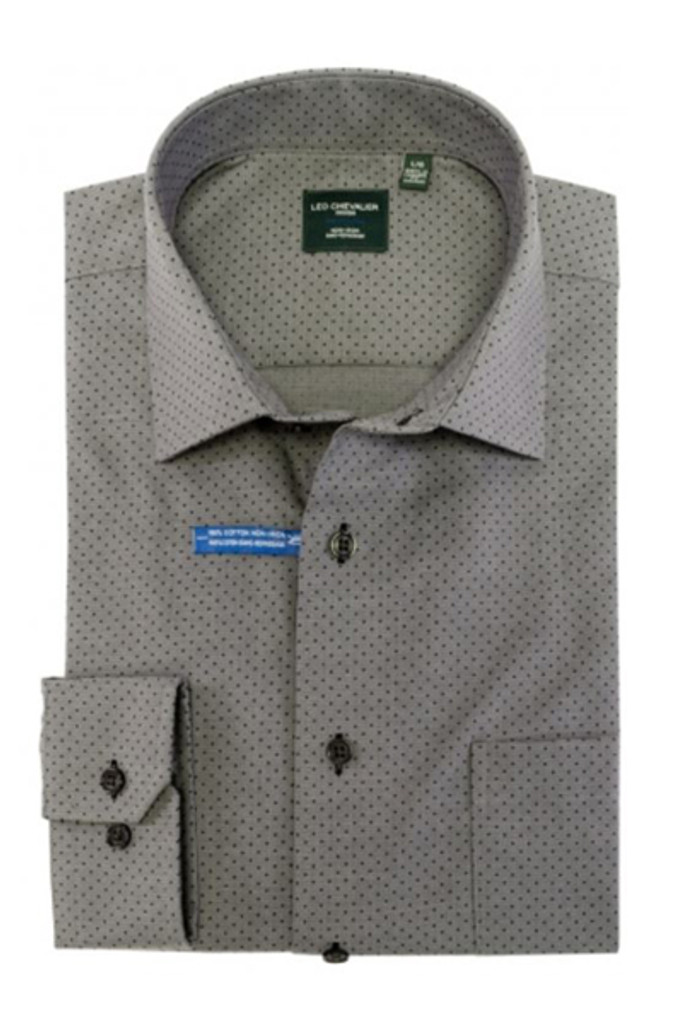 Leo Chevalier Charcoal Dot Shirt