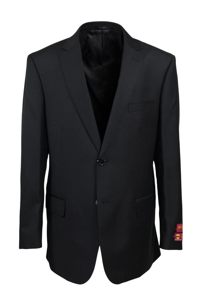 Mantoni Black Wool Suit