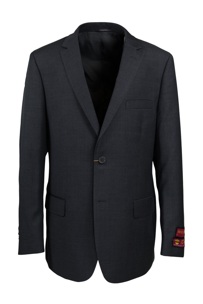 Mantoni Charcoal Wool Suit
