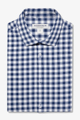 Mizzen+Main Navy White Check Lightweight Shirt