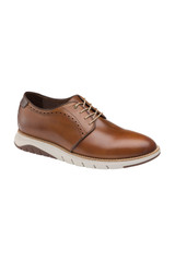 Johnston & Murphy Vaughn Plain Toe Cognac Shoe