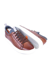 Martin Dingman Cameron Whiskey Leather Sneaker
