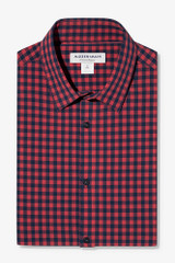 Mizzen+Main Red Navy Gingham Shirt
