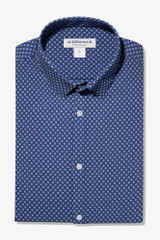 Mizzen+Main Navy Geo Dot Print Shirt