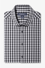 Mizzen+Main Black Grey Gingham Shirt