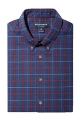 Mizzen+Main City Flannel Blue Red Plaid Shirt