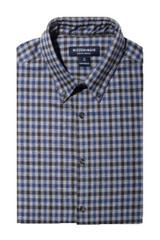 Mizzen+Main City Flannel Blue Multi Gingham Shirt