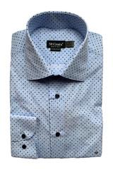 St. Croix Polka Dot Print Contemporary Shirt