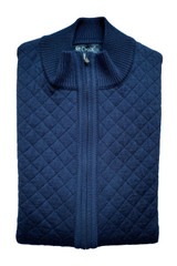 St. Croix Quilted Full Zip Wool Blend Vest