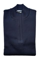 St. Croix Seersucker 1/4 Zip Sweater