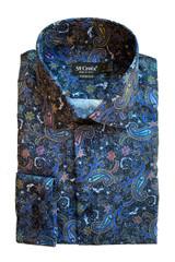 St. Croix Paisley Print Contemporary Shirt