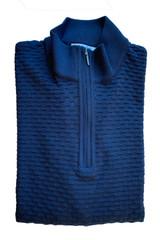St. Croix Bubble Stitch Zip Mock Sweater