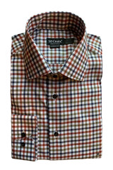 St. Croix Small Check Contemporary Shirt