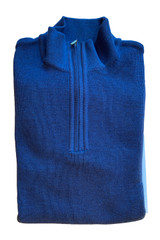 St. Croix Classic Rib Zip Mock Pullover Sweater