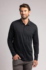 TravisMathew Black Olives Long Sleeve Polo