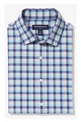 Mizzen+Main Cobalt Blue And Pink Multi Check Leeward Shirt