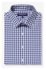 Mizzen+Main Tall Cobalt Blue Gingham Leeward Shirt