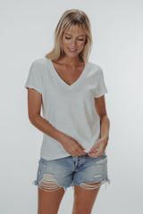 The Normal Brand Women's Slub V-Neck T-Shirt