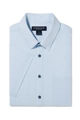 Mizzen+Main Blue Geo Print SS Shirt