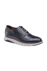 Johnston & Murphy Vaughn Longwing Navy Shoe