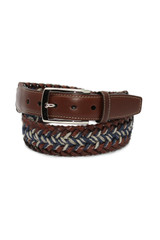 Torino Leather Co. Woven Leather & Linen Belt