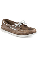 Sperry A/O Brown White Cap Boat Shoe