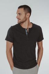 The Normal Brand Men's Slub Henley T-Shirt