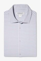 Mizzen+Main Lt Blue Orange Check Lightweight Shirt