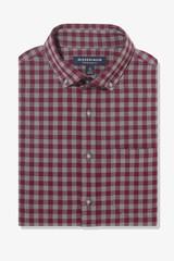 Mizzen+Main City Flannel Burgundy Check Shirt