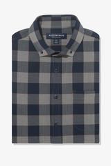 Mizzen+Main City Flannel Navy Check Shirt