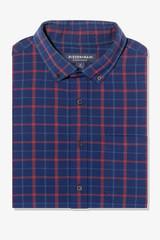 Mizzen+Main City Flannel Navy Plaid Shirt