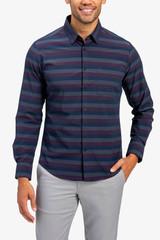 Mizzen+Main Horizontal Stripe No Tuck Shirt