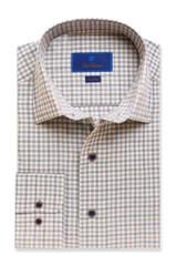 David Donahue Grey Check Fusion Shirt