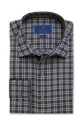 David Donahue Melange Plaid Fusion Shirt
