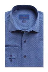 David Donahue Jersey Knit Fusion Shirt