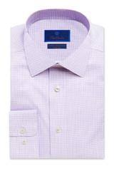 David Donahue Lilac Check Non-Iron Dress Shirt