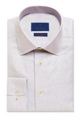 David Donahue Micro Check Non-Iron Dress Shirt