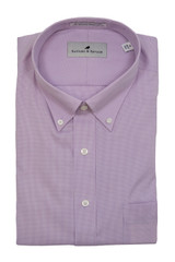 Sullivan & Spruce Lavender Mini Houndstooth Dress Shirt