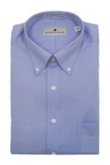 Sullivan & Spruce Blue Solid Dress Shirt