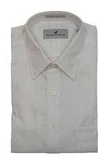 Sullivan & Spruce White Herringbone Dress Shirt