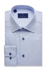 David Donahue Mini Basketweave Regular Dress Shirt