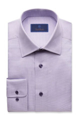 David Donahue Lilac Micro Tonal Tic Regular Dress Shirt